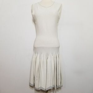Alaia Pleated Silver Foil Handkerchief Dress 4